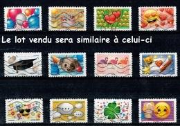 Série Complète France 2018 - Emoji (lot Vendu Sera Similaire à Celui-ci). - France