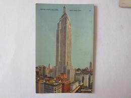 Etats Unis New York City Empire State Building Obliteration Bateau Le Havre - Unclassified