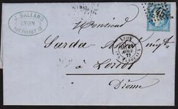 Cérès N° 60 A Position 135 B2 1er état GC 2145A Lyon Les Terraux  2 Scans - 1871-1875 Cérès