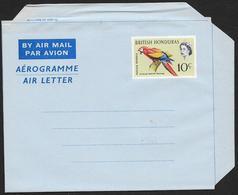 BRITISH HONDURAS Aerogramme 10c Queen & Macaw Bird C1960s Unused STK#X21253 - British Honduras (...-1970)
