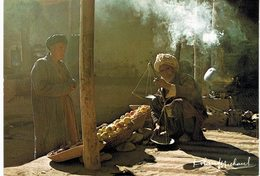 Afghanistan - Marchand Pesant  Des Pêches Pour Son Client - Carte Grand Format - Afghanistan