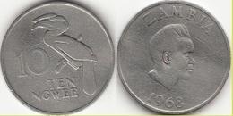 Zambia 10 Ngwee 1968 KM#12 - Used - Zambie