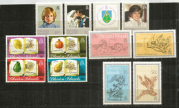 ILE PITCAIRN.  Année Complète 1982.   12 Timbres Neufs ** - Stamps