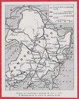 Progrès De L'exploitation Japonaise De 1931 à 1935: Le Mandchoukouo  (Chine Actuelle) Se Couvre De Chemin De Fer. - Autres