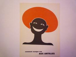 """""""PUB""""  PHARMACEUTIQUE  """"CITROCHOLINE""""    Comment Mange-t-on  AUX ANTILLES   XXX   (format  18 X 24cm) - Advertising"""