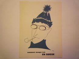"""""""PUB""""  PHARMACEUTIQUE  """"CITROCHOLINE""""    Comment Mange-t-on  EN SUISSE   XXX   (format  18 X 24cm) - Advertising"""