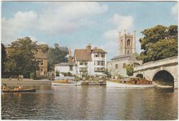 THE BRIDGE AND CHURCH, HENLEY. ANGEL HOTEL - England