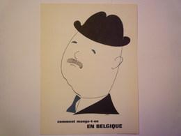"""""""PUB""""  PHARMACEUTIQUE  """"CITROCHOLINE""""    Comment Mange-t-on  EN BELGIQUE   XXX   (format  18 X 24cm) - Advertising"""