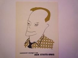 """""""PUB""""  PHARMACEUTIQUE  """"CITROCHOLINE""""    Comment Mange-t-on  AUX ETATS-UNIS   XXX   (format  18 X 24cm) - Advertising"""