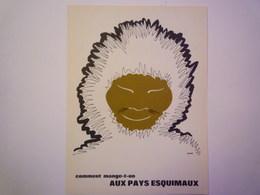 """""""PUB""""  PHARMACEUTIQUE  """"CITROCHOLINE""""    Comment Mange-t-on  AUX PAYS ESQUIMAUX   XXX   (format  18 X 24cm) - Advertising"""