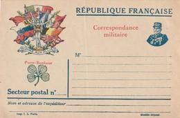 Rare Lettre Correspondances Aux Armées Gloire Aux Alliés Avec Trèfle Et Maréchal Foch - 1914-18
