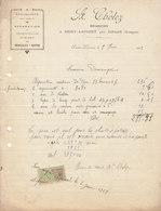 A. Cholez ,mécanicien à Saint-Laurent Par Dinozé , Vosges , Facture De 1923 - Agricoltura