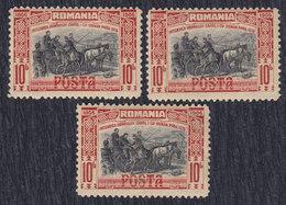 Romania 1906 Carol I Of Romania With Osman Pasha The Bosnian, MH (*) 3 Pieces Michel 190 - 1881-1918: Charles I