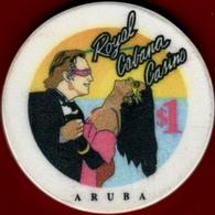$1 Casino Chip. Royal Cabana, Aruba. I01. - Casino