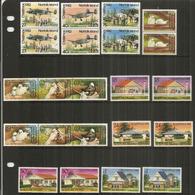 Noël à L'ÎLE NORFOLK,  Années 1980-1981-1982.   11 Timbres Neufs ** En Paires - Ile Norfolk