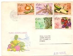 CUBA FDC VEGETABLES  AIR MAIL MAXI FORMAT. COVER    (NOV180018) - Agricultura
