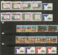 Noël à L'ÎLE NORFOLK,  Années 1986-1987-1989.   11 Timbres Neufs ** En Paires - Ile Norfolk