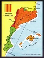 Catalunya. *Països Catalans* Impreso 108 X1 48 Mms. Al Dorso Texto De Joan Fuster. - Mapas
