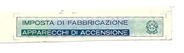 """Attestazione  """"IMPOSTA DI FABBRICAZIONE  Apparecchi Di Accensione"""" - Automobili"""