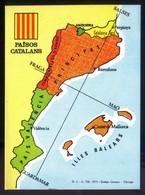 Catalunya. *Països Catalans* Impreso 108 X 148 Mms. Al Dorso Texto En Francés. - Mapas