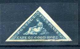 1853 CAPO DI BUONA SPERANZA N.2 USATO FIRME AL VERSO - South Africa (...-1961)