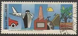 LSJP BRAZIL 50 Years National Confederation Industry 1988 - Oblitérés