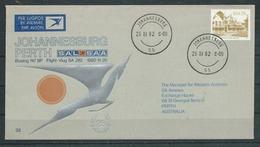 AFRIQUE DU SUD  Yvert  N° 518  25 Ans Ligne Aérienne  Johannesburg-Perth  (25 Novembre 1982) - FDC