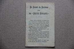 Le Secret Du Bonheur Pour Les Petits Enfants, 1913 (religion) - Andere