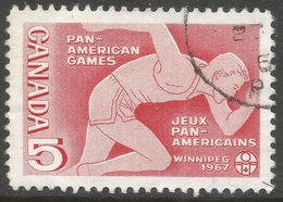 Canada. 1967 Fifth Pan-American Games, Winnipeg. 5c Used. SG 614 - 1952-.... Reign Of Elizabeth II