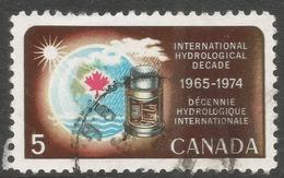 Canada. 1968 International Hydrological Decade. 5c Used. SG 623 - 1952-.... Reign Of Elizabeth II