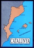 Catalunya. Impreso 104 X 148 Mms. Sin Datos Editor. Dorso En Blanco. - Mapas