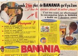 """Pub.1956 Banania Petit Déjeuner Traditionnel De Toute La Famille """"Goût,Santé,Economie,Gain De Temps"""" 2 Pages TBE - Advertising"""