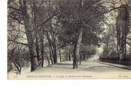 Cpa Neuilly Sur Seine La Jatte ,le Boulevard De Courbevoie. - Neuilly Sur Seine