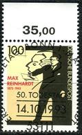 BRD - Mi 1703 Oberrand - Zentrisch OO Gestempelt (D) - 100Pf               Max Reinhardt - Usados