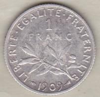 1 Franc Semeuse 1909 , En Argent - France