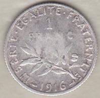 1 Franc Semeuse 1916 , En Argent - France