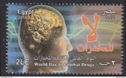 EGYPT , 2016, MNH, DRUGS, WORLD DAY TO COMBAT DRUGS,1v - Drugs