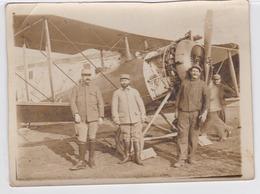 Militaria - Aviation - Photo Originale ( 12 X 9 Cm )- Avion, Plan Animé - War 1914-18