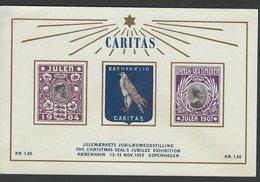 Denmark - Caritas Christmas Sheet 1953. Reprint. MNH.  H-1388 - Cinderellas