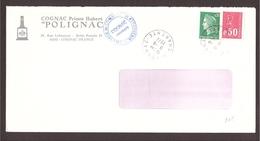 GRÈVE 1974 C.C.I Cognac Charente - Cognac Polignac - Postmark Collection (Covers)