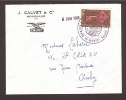 GRÈVE 1968 C.C.I GIRONDE Bordeaux - Thème Vin - Postmark Collection (Covers)