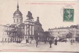 CPA - 4. CLERMONT FERRAND La Statue De Vercingétorix Et L'église Des Minimes - Clermont Ferrand