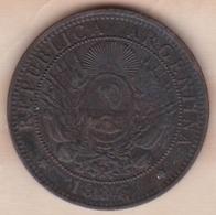 ARGENTINE / TUCUMAN. DOS CENTAVOS 1884. BRONZE - Argentine
