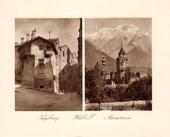 Hall In Tirol - Nagglburg + Münzerturm - Kupfertiefdruck Ca 1910-20 - Drucke