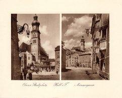 Hall In Tirol - Oberer STadtplatz+ Münzergasse - Kupfertiefdruck Ca 1910-20 - Drucke