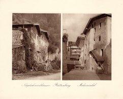 Rattenberg - Nagelschmiedhäuser + Malerwinkel - Kupfertiefdruck Ca 1910-20 - Drucke