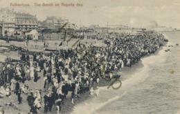 Folkstone - The Beach Om Regatta Day (enb008) - Folkestone