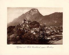 Kufstein Mit Feste Geroldseck Gegen Pendling - Kupfertiefdruck Ca 1910-20 - Drucke