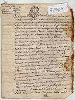 VP13.325 - Cachet Généralité De LIMOGES - ANGOULEME - Acte De 1788 Concernat Mr REFFAUD à RUELLE SUR TOUVRE - Cachets Généralité
