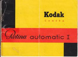 AD034 - Original Bedienungsanleitung Manual Kodak Retina Automatic I, Deutsch - Alte Papiere